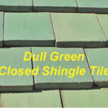 Dull Green Closed Shingle