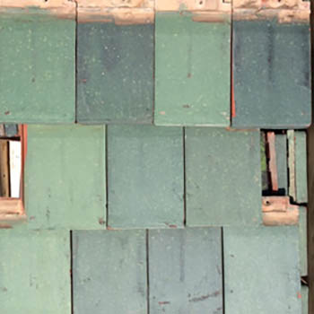 Green English Roof Tiles